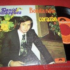 """Discos de vinilo: DANIEL VELAZQUEZ CORAZON/BONITA NIÑA 7"""" SINGLE 1975 POLYDOR. Lote 26372272"""