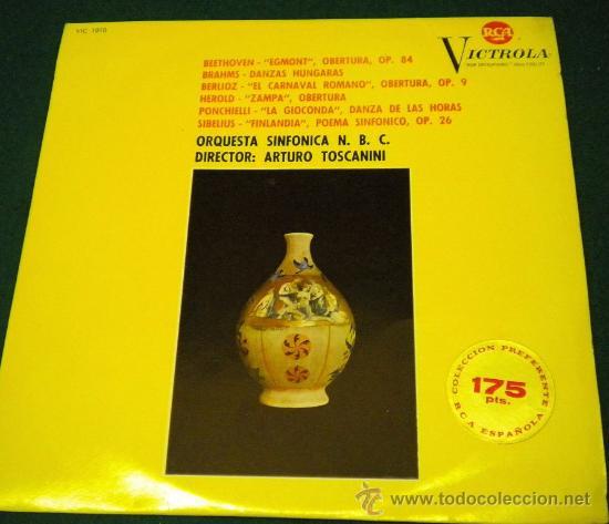 ORQUESTA SINFONICA N.B.C. - DIRIGIDA POR ARTURO TOSCANINI - 1964 RCA VICTROLA (Música - Discos - Singles Vinilo - Clásica, Ópera, Zarzuela y Marchas)