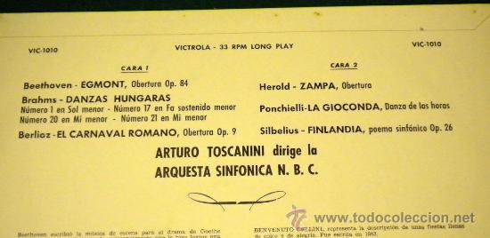 Discos de vinilo: Orquesta Sinfonica N.B.C. - dirigida por Arturo Toscanini - 1964 RCA Victrola - Foto 2 - 26376434