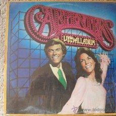 Discos de vinilo: CARPENTERS, LIVE AT THE PALLADIUM, LP, A&M 1.976. Lote 26392634