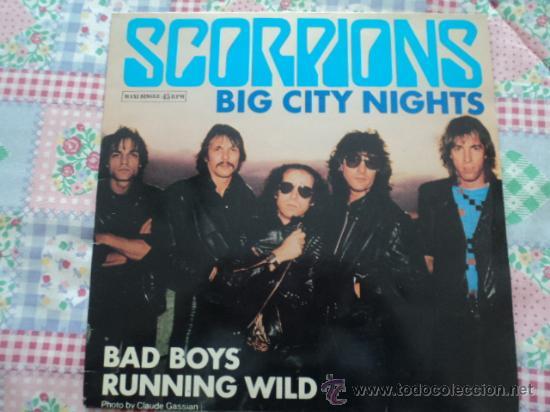 SCORPIONS, BIG CITY NIGHTS; MAXI SINGLE DE EMI, 1984 (Música - Discos de Vinilo - Maxi Singles - Rock & Roll)
