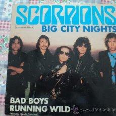 Discos de vinilo: SCORPIONS, BIG CITY NIGHTS; MAXI SINGLE DE EMI, 1984. Lote 26391694