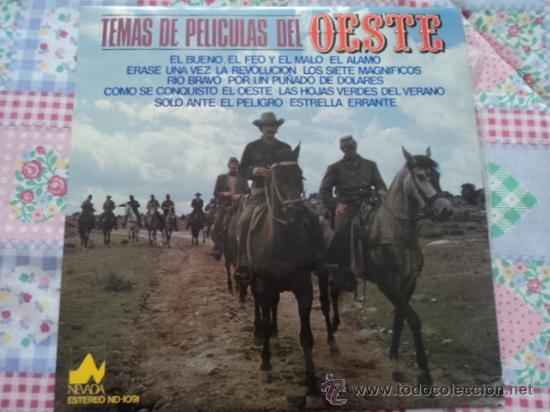 TEMAS DE PELÍCULAS DEL OESTE; LP DE DIAL DISCOS, SERIE NEVADA; 1977 (Música - Discos - LP Vinilo - Bandas Sonoras y Música de Actores )
