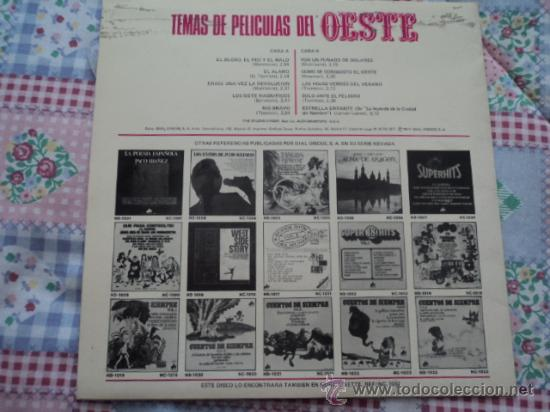 Discos de vinilo: Temas de películas del Oeste; LP de Dial Discos, serie Nevada; 1977 - Foto 2 - 26391865