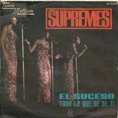 Discos de vinilo: DIANA ROSS & THE SUPREMES SINGLE SELLO TAMLA MOTOWM AÑO 1967 (VER FOTO ADICIONAL). Lote 26405736