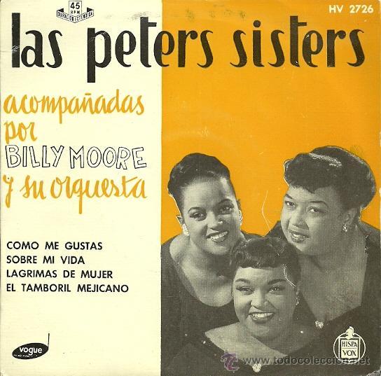 LAS PETERS SISTERS EP SELLO HISPAVOX AÑO 1958 (Música - Discos de Vinilo - EPs - Funk, Soul y Black Music)