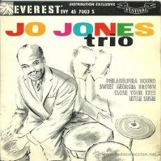 Discos de vinilo: JO JONES TRIO EP SELLO FESTIVAL EDITADO EN FRANCIA. Lote 26406161