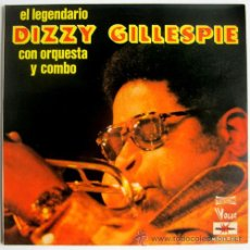 Discos de vinilo: DIZZY GILLESPIE – EL LEGENDARIO DG CON ORQUESTA Y COMBO – DOBLE LP SPAN 1977 – VOGUE/MARFER 126-S. Lote 26414421