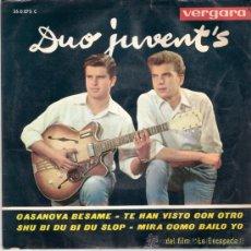 Discos de vinilo: DUO JUVENT´S - CASANOVA BESAME + 3 (EP DE 4 CANCIONES) VERGARA 1963 - VG++/VG++. Lote 26414967