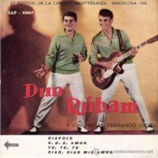 Discos de vinilo: DUO RUBAM - DIAVOLO + 3 (EP DE 4 CANCIONES) SAEF 1960 - EX/VG++. Lote 26415053
