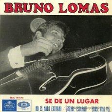 Discos de vinilo: BRUNO LOMAS EP SELLO EMI-REGAL AÑO 1965. Lote 26420095