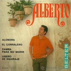 Discos de vinilo: ALBERTO EP SELLO BELTER AÑO 1969. Lote 26420136