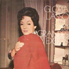 Discos de vinilo: DOBLE LP GLORIA LASSO - 20 GRANDES EXITOS - TEMAS DE ARY BARROSO, AGUSTIN LARA, MAESTRO PADILLA. Lote 26426707