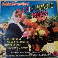 Discos de vinilo: DISCOS (ZARZUELA) LA DEL MANOJO DE ROSAS. Lote 26426987