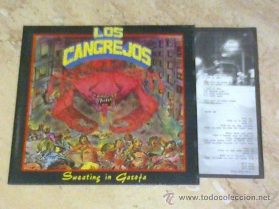 EP - LOS CANGREJOS -SWEATING IN GASOFA-RABIA RECORDS-1990- (Música - Discos de Vinilo - EPs - Grupos Españoles de los 70 y 80)