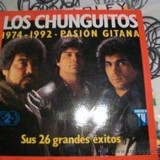 Discos de vinilo: LOS CHUNGUITOS DOBLE LP 1974-1992 PASION GITANA. Lote 26447692