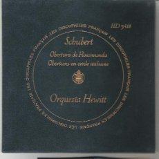 Discos de vinilo: DISCO CON FUNDA TERCIOPELO SCHUBERT POR ORQUESTA HEWITT POR HISPAVOX,CON LIBRITO ,LUJO.OBERTURA ROSA. Lote 26502086