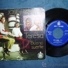 Discos de vinilo: JOSE Y MANUEL TERESA HARMONY FLOWER POP SPAIN RARO. Lote 26552625