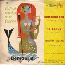 Discos de vinilo: SINGLE-ARTURO MILLAN-RCA3-14041-1960-ED.ESPAÑOLA-. Lote 26560168
