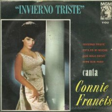 Discos de vinilo: CONNIE FRANCIS EP SELLO MGM EDITADO EN MEXICO.. Lote 26570479