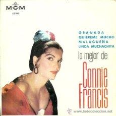 Discos de vinilo: CONNIE FRANCIS EP SELLO MGM AÑO 1964.. Lote 26570709