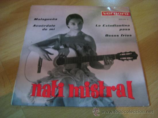 NATI MISTRAL EP SINGLE.MALAGUEÑA (Música - Discos de Vinilo - EPs - Flamenco, Canción española y Cuplé)