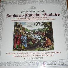 Discos de vinilo: CANTATAS JOHANN SEBASTIAN BACH (ORQUESTA BACH DE MUNICH). Lote 26589570