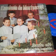 "Discos de vinil: ESCOLANIA DEL MONASTERIO DE MONTSERRAT DOM IRENEO SEGARRA - SANTA NIT/ADESTE FIDELES.. 7"" SINGLE . Lote 26645454"