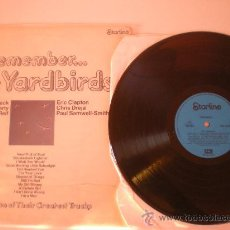 Discos de vinilo: THE YARDBIRDS-REMEMBER-STARLINE LP 1971 -BECK/CLAPTON COVER G RECORD EX. Lote 26647523