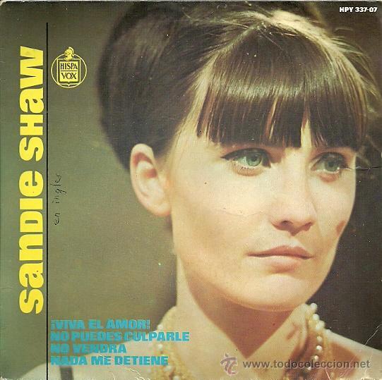 SANDIE SHAW EP SELLO HISPAVOX AÑO 1965 (Música - Discos de Vinilo - EPs - Pop - Rock Extranjero de los 50 y 60)