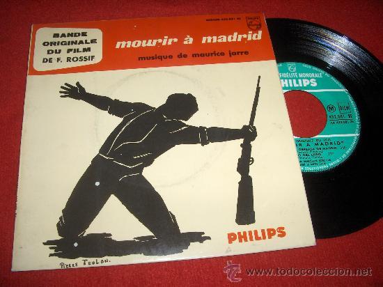 """MOURIR À MADRID BSO 7"""" EP PHILIPS MAURICE JARRE EDICION FRANCESA (Música - Discos de Vinilo - EPs - Bandas Sonoras y Actores)"""