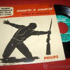 "Discos de vinilo: MOURIR À MADRID BSO 7"" EP PHILIPS MAURICE JARRE EDICION FRANCESA. Lote 26665014"