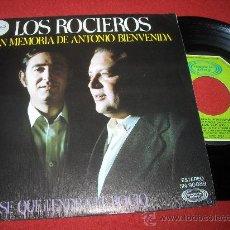"""Discos de vinilo: LOS ROCIEROS EN MEMORIA DE ANTONIO BIENVENIDA/NO SE QUE TENDRA EL ROCIO 7"""" SINGLE 1976 MOVIEPLAY. Lote 26666860"""