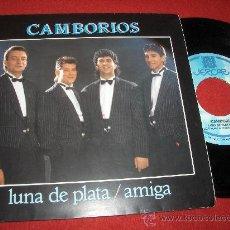 """Discos de vinilo: CAMBORIOS LUNA DE PLATA/AMIGA 7"""" SINGLE 1988 JERCAR. Lote 26666944"""