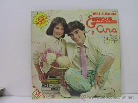 ENRIQUE Y ANA - MULTIPLICA CON... - CON LIBRETO - HISPAVOX 1980 (Música - Discos - LPs Vinilo - Música Infantil)