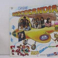 Discos de vinilo: NUEVO DISCOLANDIA - DOBLE LP - PORTADA ABIERTA - BELTER 1982. Lote 26687023
