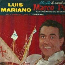 Discos de vinilo: LUIS MARIANO 10¨ (25 CTMS.) SELLO LA VOZ DE SU AMO EDITADO EN FRANCIA.. Lote 26688081