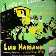 Discos de vinilo: LUIS MARIANO 10¨ (25 CTMS.) SELLO LA VOZ DE SU AMO EDITADO EN FRANCIA.. Lote 26688206