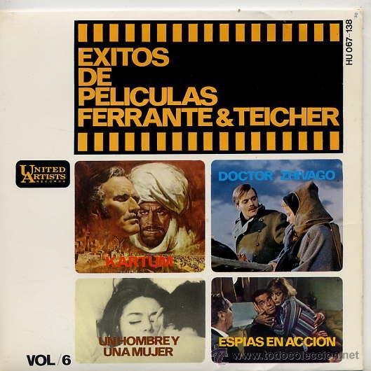 FERRANTE & TEICHER - EXITOS DE PELICULAS / KARTUM / STRANGERS IN THE NIGHT + 2 (EP 66) (Música - Discos de Vinilo - EPs - Bandas Sonoras y Actores)