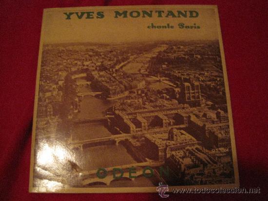 LP-25 CMS-YVES MONTAND-ODEON 1004-ORIG. FRANCE-195??- (Música - Discos - LP Vinilo - Canción Francesa e Italiana)