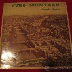 Discos de vinilo: LP-25 CMS-YVES MONTAND-ODEON 1004-ORIG. FRANCE-195??-. Lote 26707363