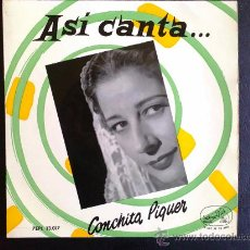Discos de vinilo: ASÍ CANTA CONCHA PIQUER - OJOS VERDES - EP ESPAÑA. Lote 26710566