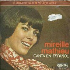 Discos de vinilo: MIREILLE MATHIEU CANTA EN ESPAÑOL SINGLE SELLO MOVIEPLAY AÑO 1970. Lote 26733342