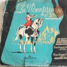 Discos de vinilo: LA MONTERÍA. DE J. GUERRERO. COROS CANTORES DE MADRID. Lote 26742555