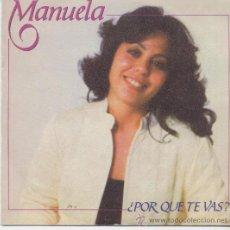 Dischi in vinile: MANUELA,POR QUE TE VAS DEL 82 PROMO. Lote 26761802