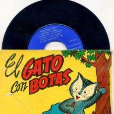 Discos de vinilo: EL GATO CON BOTAS - DISCO COMIC ODEÓN, 1960. Lote 26765554
