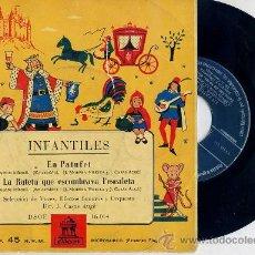 Discos de vinil: EN PATUFET / LA RATETA QUE ESCOMBRAVA L'ESCALETA - ODEÓN SIN FECHA. Lote 26765975