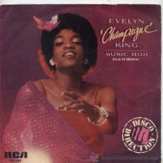 Discos de vinilo: EVELYN CHAMPAGNE KING / MUSIC BOX / IT'S OK (SINGLE 79). Lote 26772836