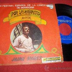 Discos de vinilo: JAIME MOREY POR LAS MAÑANITAS / ROSITA 7