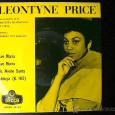 Discos de vinilo: LEONTYNE PRICE - AVE MARÍA - EP ESPAÑOL. Lote 26920658